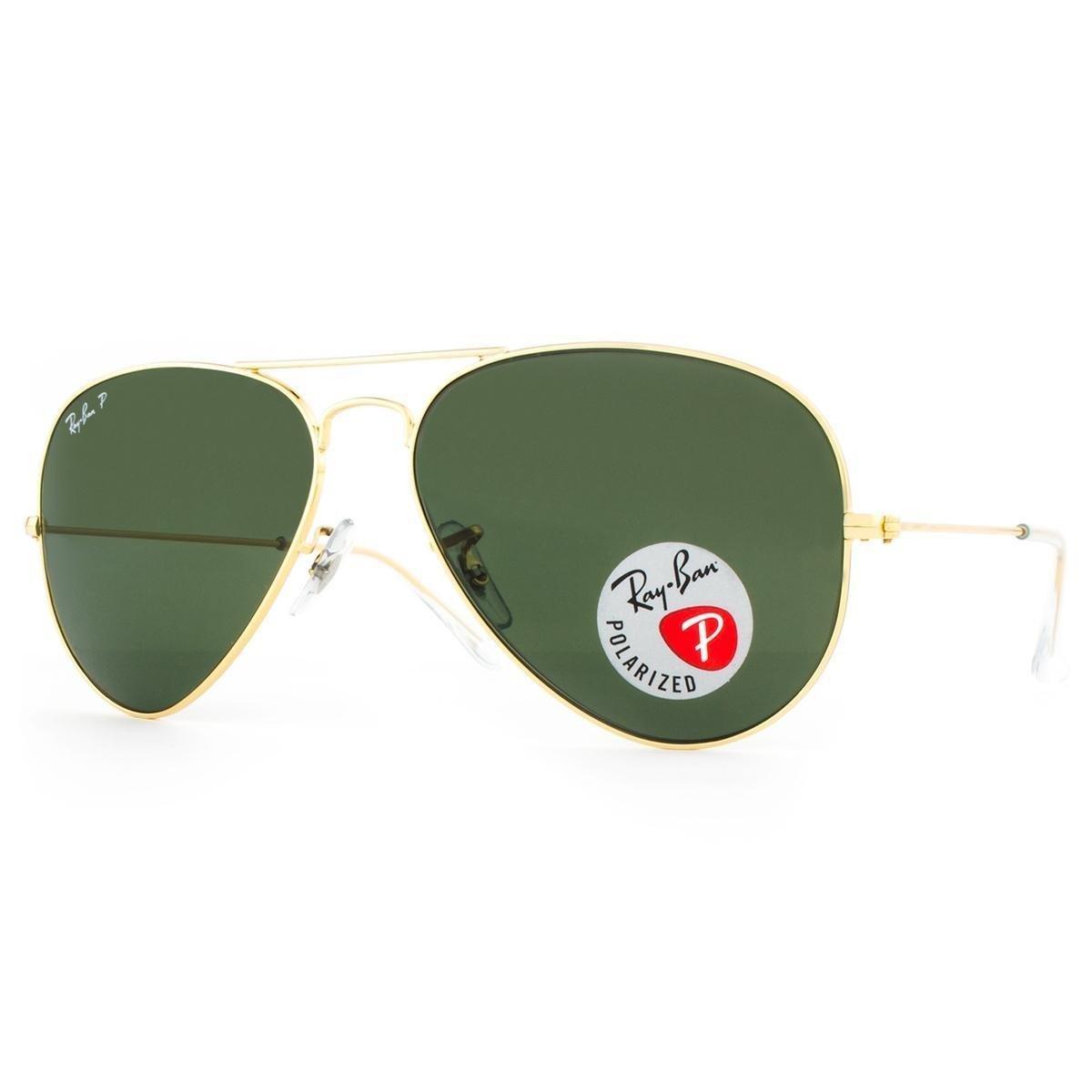 ce5d4e8918a2f ... Óculos de Sol Ray Ban Aviator Polarizado RB3025L 001 58-58 Masculino ...