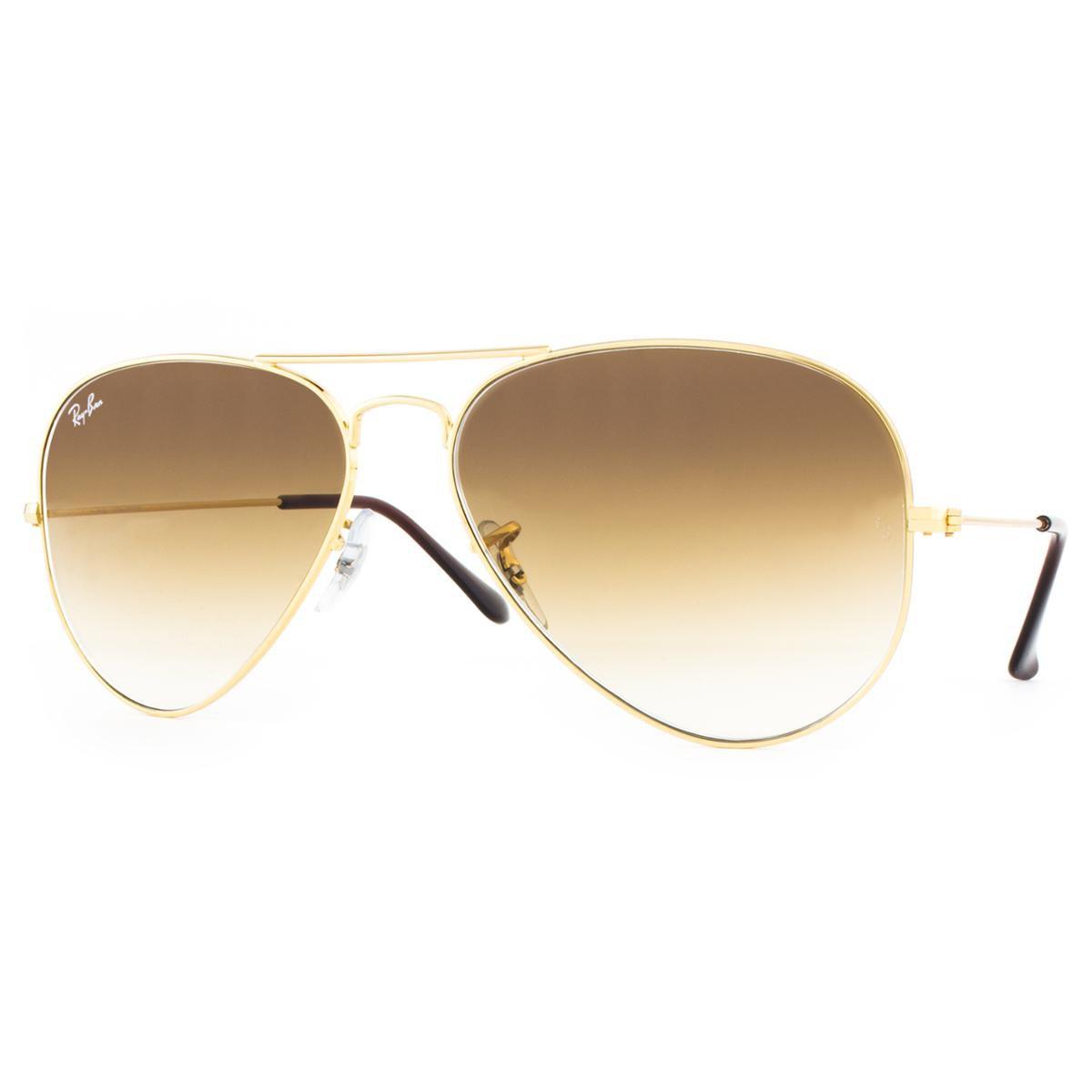 24164203a50d1 Óculos de Sol Ray Ban Aviator RB3025L 001 51-58 Feminino - Dourado ...