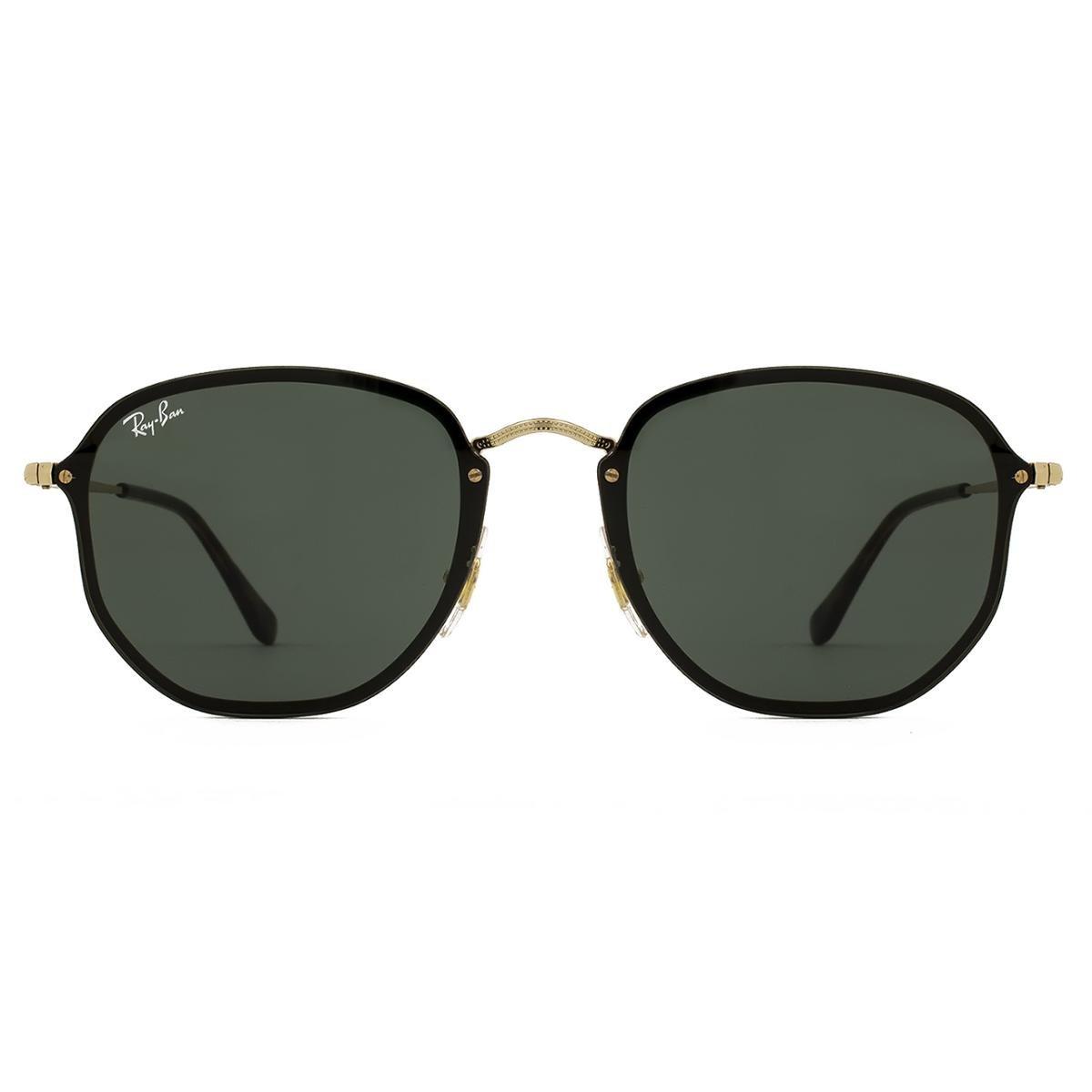 Óculos de Sol Ray Ban Blaze Hexagonal RB3579N 001 71-58 - Compre ... 28c7804b46