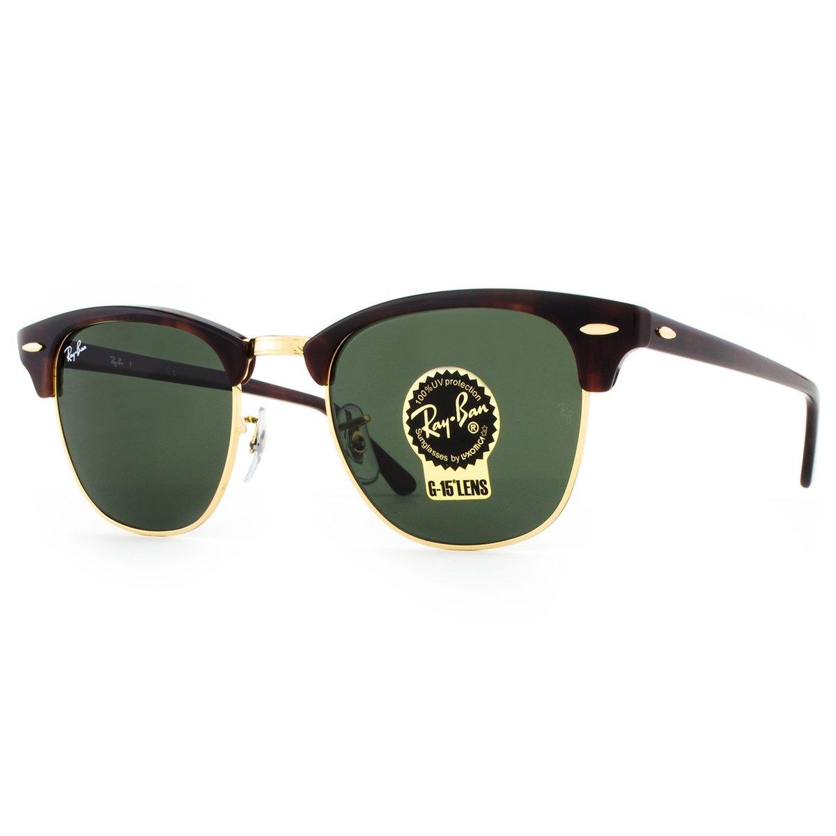 ab7ed66a54e826 ... Óculos de Sol Ray Ban Clubmaster Classic RB3016 W0366-51 Feminino ...