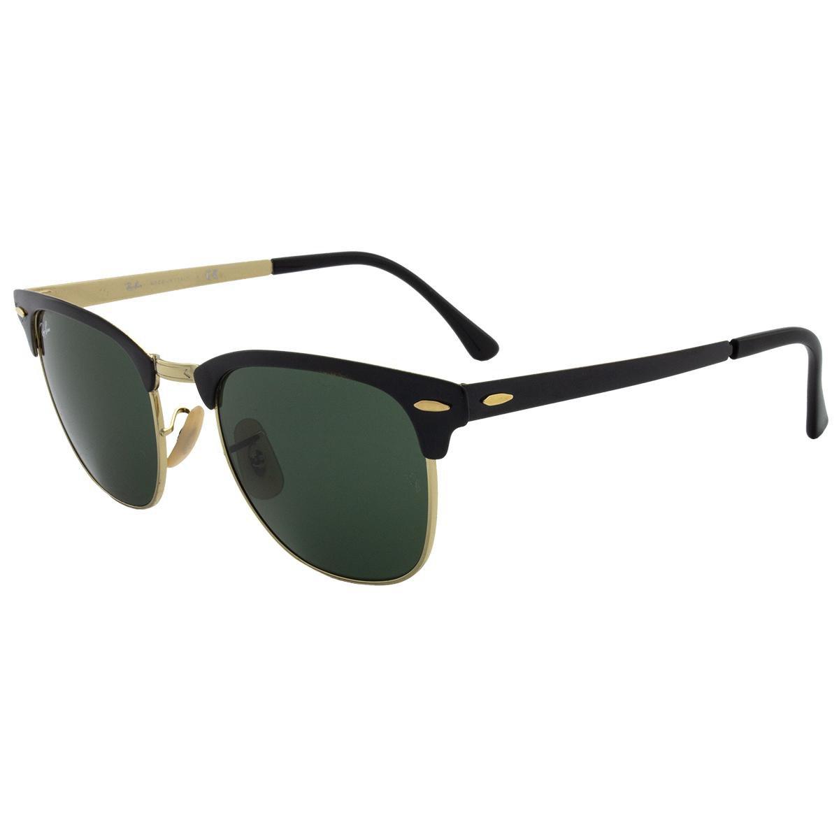 f9679e98b0f24 Óculos de Sol Ray-Ban Clubmaster Metal RB3716 - 187 51 - Compre ...