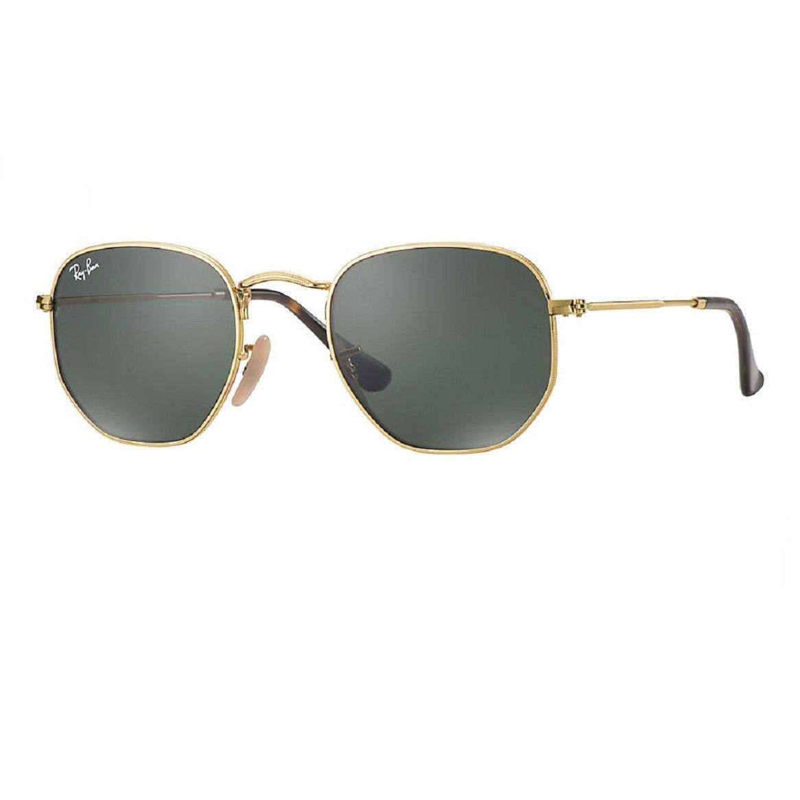 Óculos de Sol Ray Ban Hexagonal RB 3548NL 001 - Dourado e Preto ... 6dcf3e285b