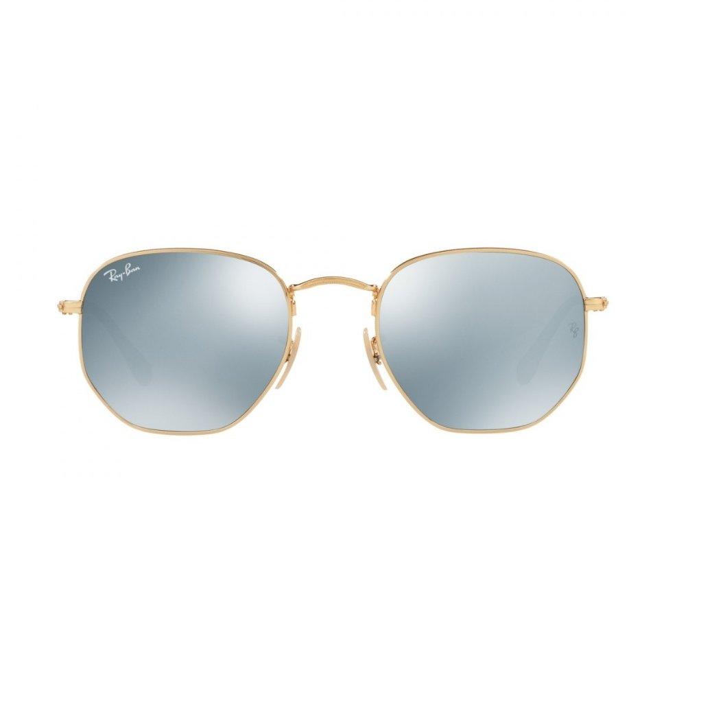 Óculos de Sol Ray Ban Hexagonal RB3548N 001 30 - Dourado - Compre ... 08771a70ed