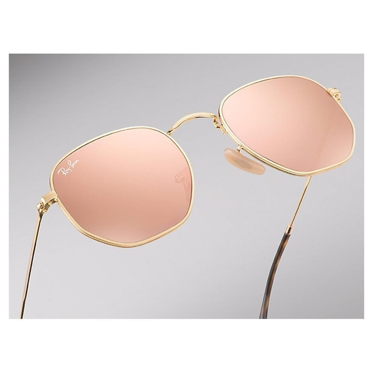Óculos de Sol Ray Ban Hexagonal RB3548NL - Dourado e Bege - Compre ... 683b4b945b