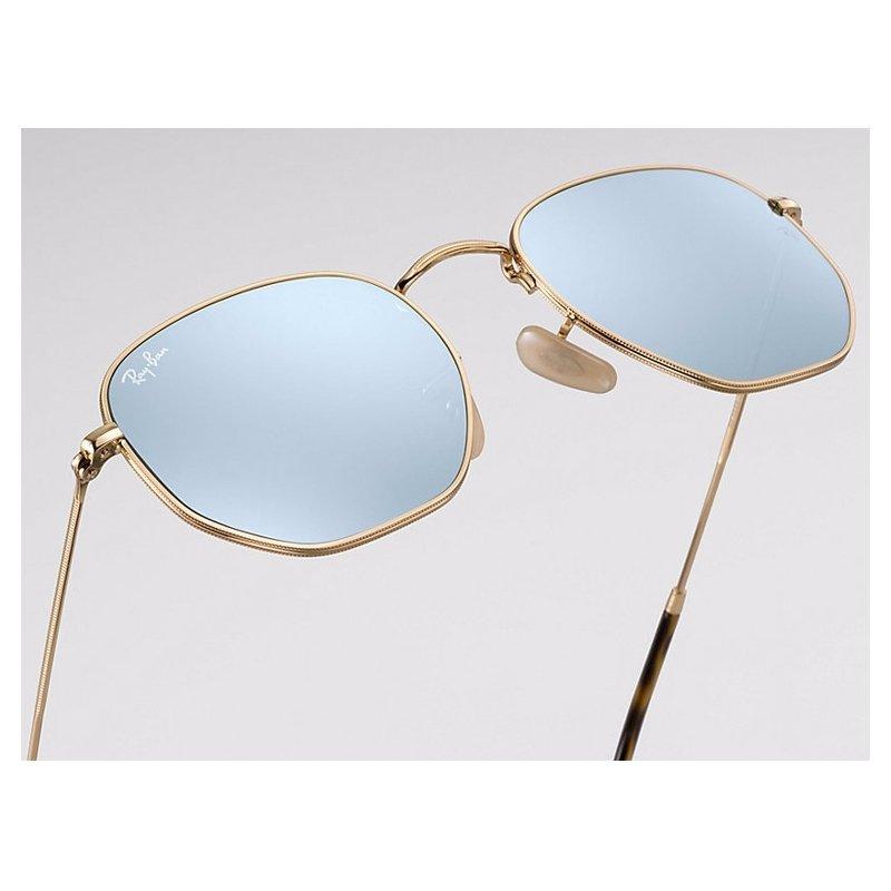 Óculos de Sol Ray Ban Hexagonal RB3548NL - Roxo e Dourado - Compre ... 045bde8bd9
