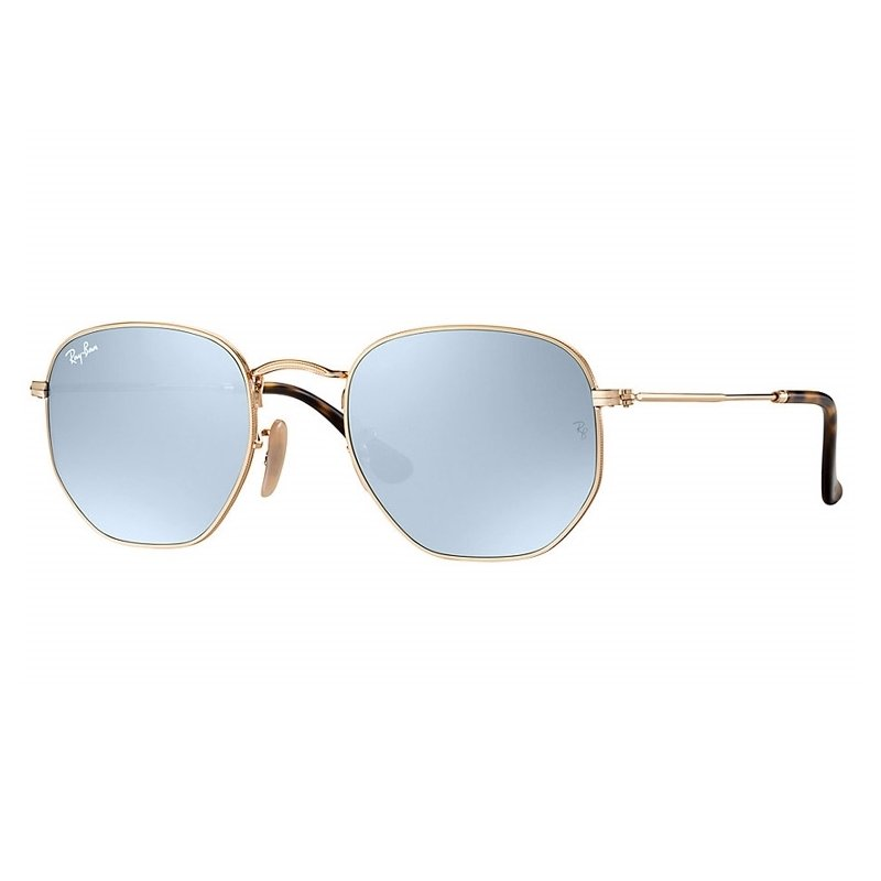 22574ab6891c5 Óculos de Sol Ray Ban Hexagonal RB3548NL - Roxo e Dourado - Compre ...