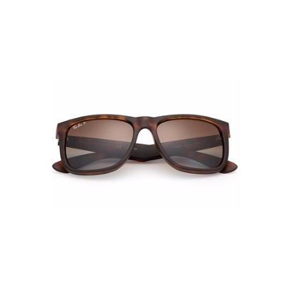 Óculos de Sol Ray Ban Justin Polarizado - Marrom - Compre Agora   Zattini 18da6f3623