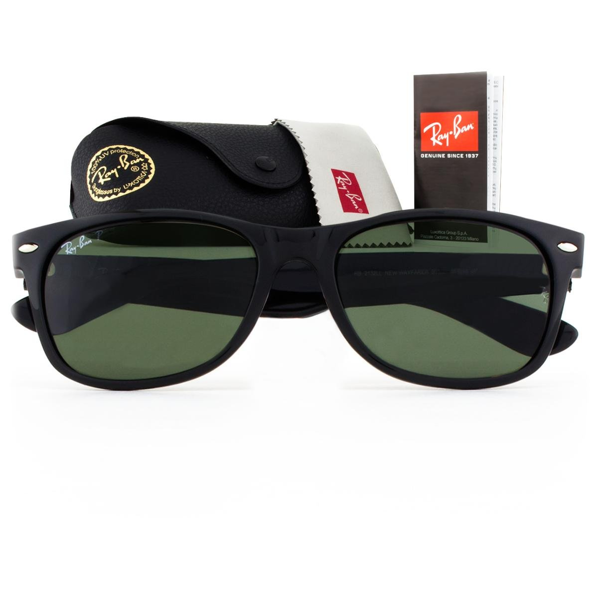 ... Óculos de Sol Ray Ban New Wayfarer Classic Polarizado RB2132LL 901 58-55  Masculino ... 1305756ea3