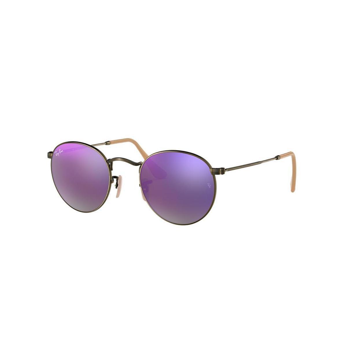 Óculos de Sol Ray-Ban RB3447 Round Metal Lentes Espelhadas - Compre ... 79b432c436