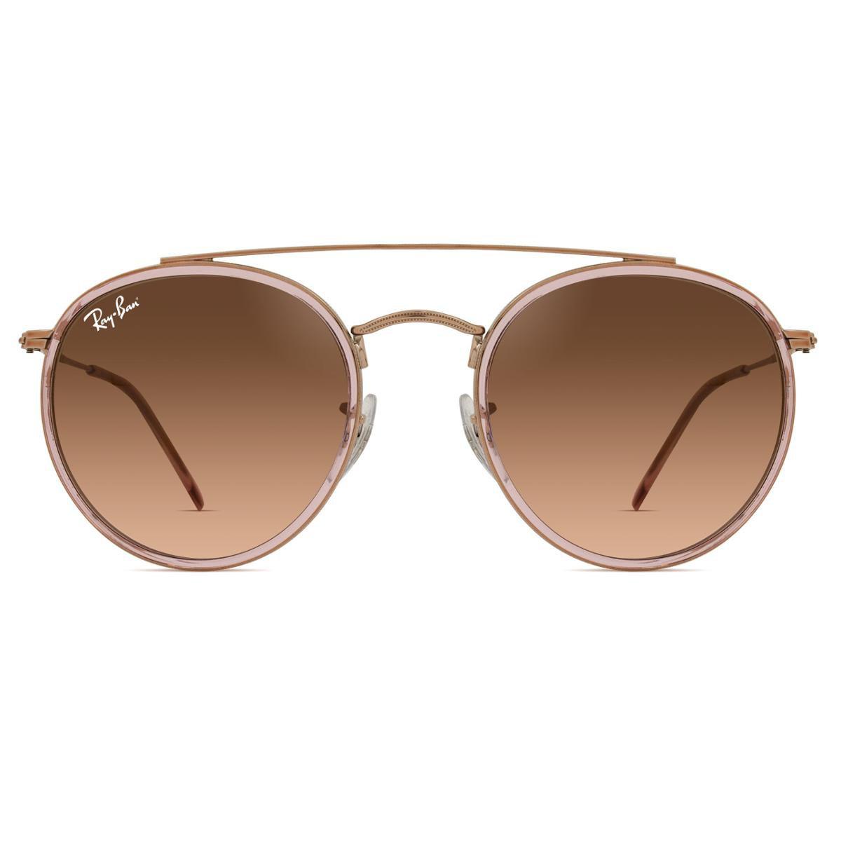 Óculos de Sol Ray Ban Round Double Bridge RB3647N 9069A5-51 - Compre ... aab77336b2