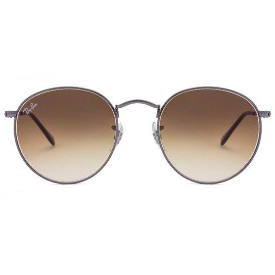 Óculos de Sol Ray Ban Round Flat - Cinza