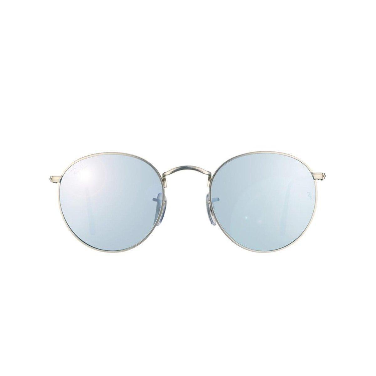 Óculos de Sol Ray Ban Round Metal - Prata - Compre Agora   Zattini 4122a274de