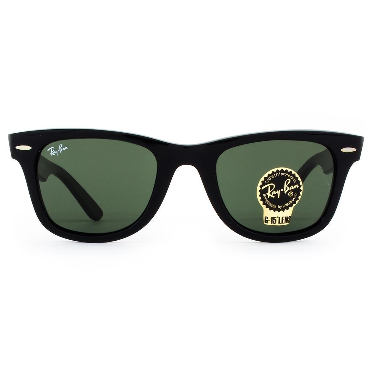 Óculos de Sol Ray Ban Wayfarer Classic RB2140 901-50 Masculino ... c2bd8880e3