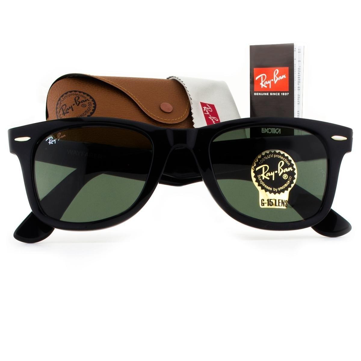 Óculos de Sol Ray Ban Wayfarer Classic RB2140 901-50 Masculino ... 3f074c4d0b