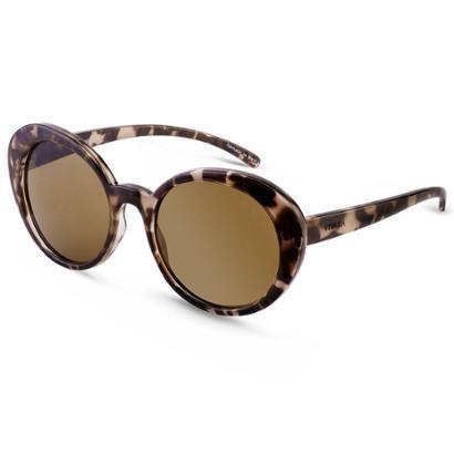 Óculos de Sol Redondo em Acetato Tartaruga