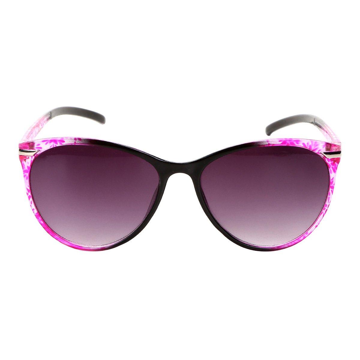 a8d78819e43cd Óculos de Sol Redondo King One Estampado Floral Feminino - Compre ...