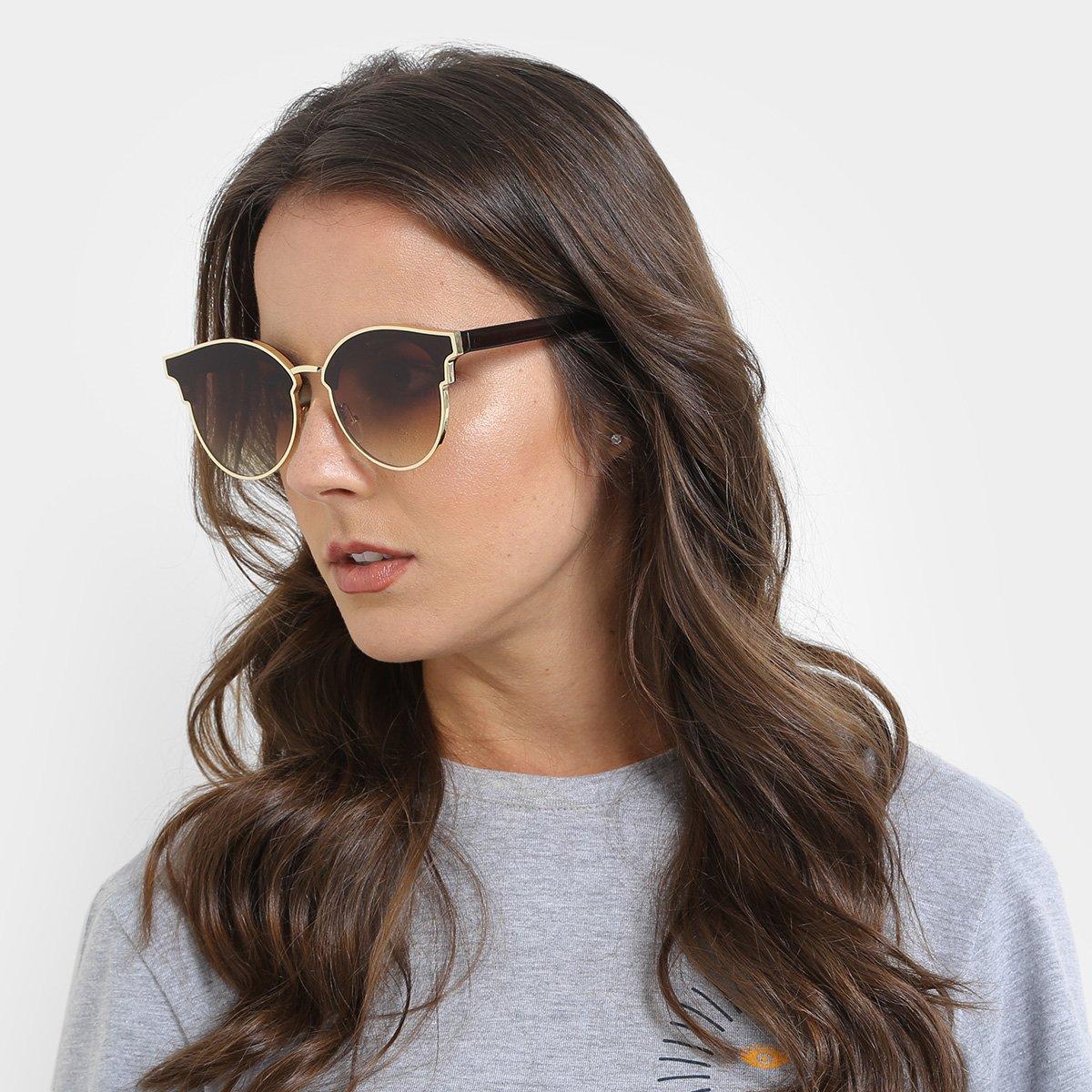f767413916f94 Óculos de Sol Redondo King One Feminino - Compre Agora   Zattini