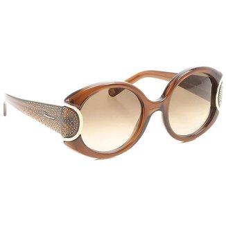 Óculos de Sol Salvatore Ferragamo SF811SR Signature 210/54 Marrom Transparente