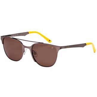 Óculos de Sol Tigor T Tigre STT074 C05/49 Marrom/Amarelo