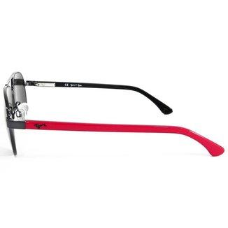 Óculos de Sol Tigor T Tigre STT084 C03/49 Preto/Vermelho