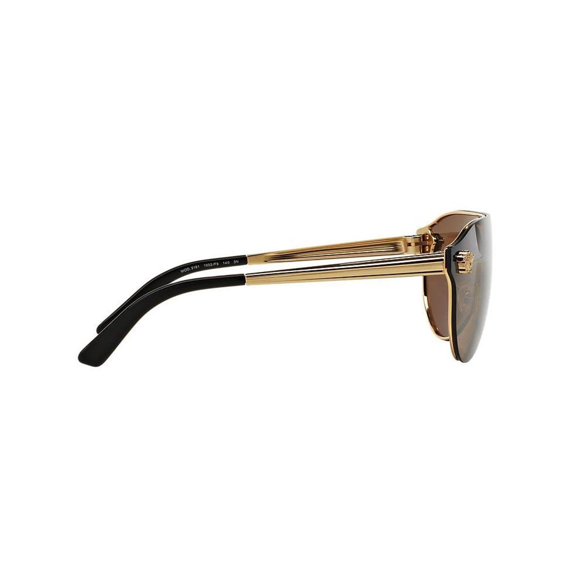 Óculos de Sol Versace Piloto VE2161 Feminino - Caramelo - Compre ... ce89c41d9d
