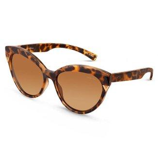 Óculos de Sol Vivara Gatinho em Acetato Tartaruga Feminino