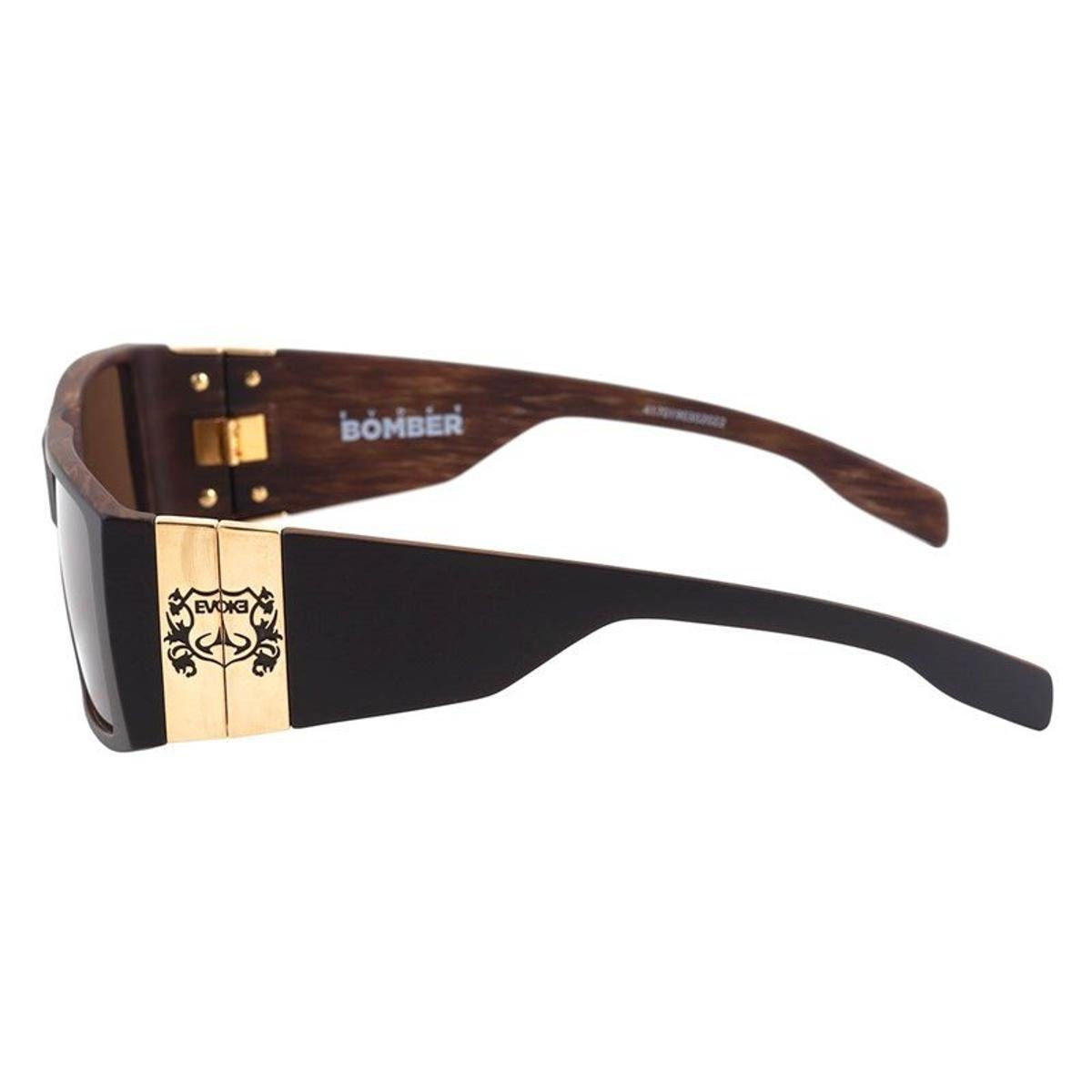 767db9510a457 Óculos Evoke Bomber Black Wood Matte Black - Compre Agora   Zattini