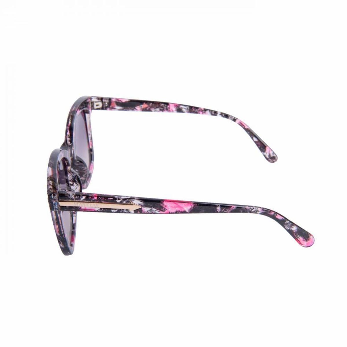 Óculos Marielas Quadrado Feminino - Preto e Rosa - Compre Agora ... 9ae2ce20de