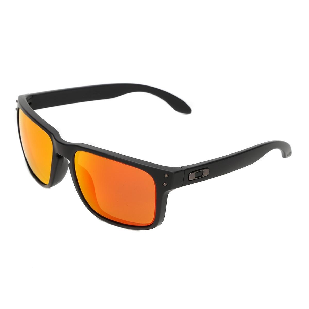 e0bce32bbe5e8 Óculos Oakley Holbrook - Preto e Laranja - Compre Agora   Zattini