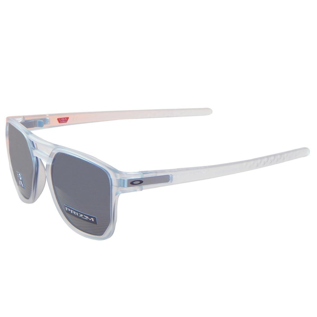 ... Óculos Oakley Latch Beta Matte Clear  Lente Prizm Black Iridium ... dcc2e706dc