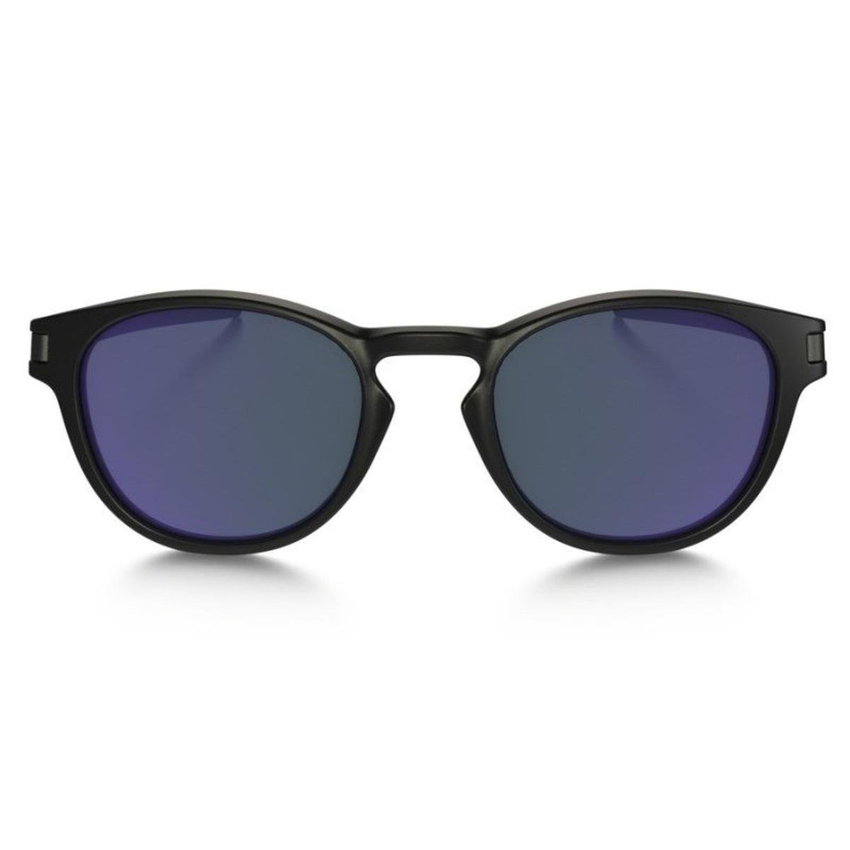 958f595dfbb24 Óculos Oakley Latch Matte Black   Violet Iridium - Preto e Lilás ...