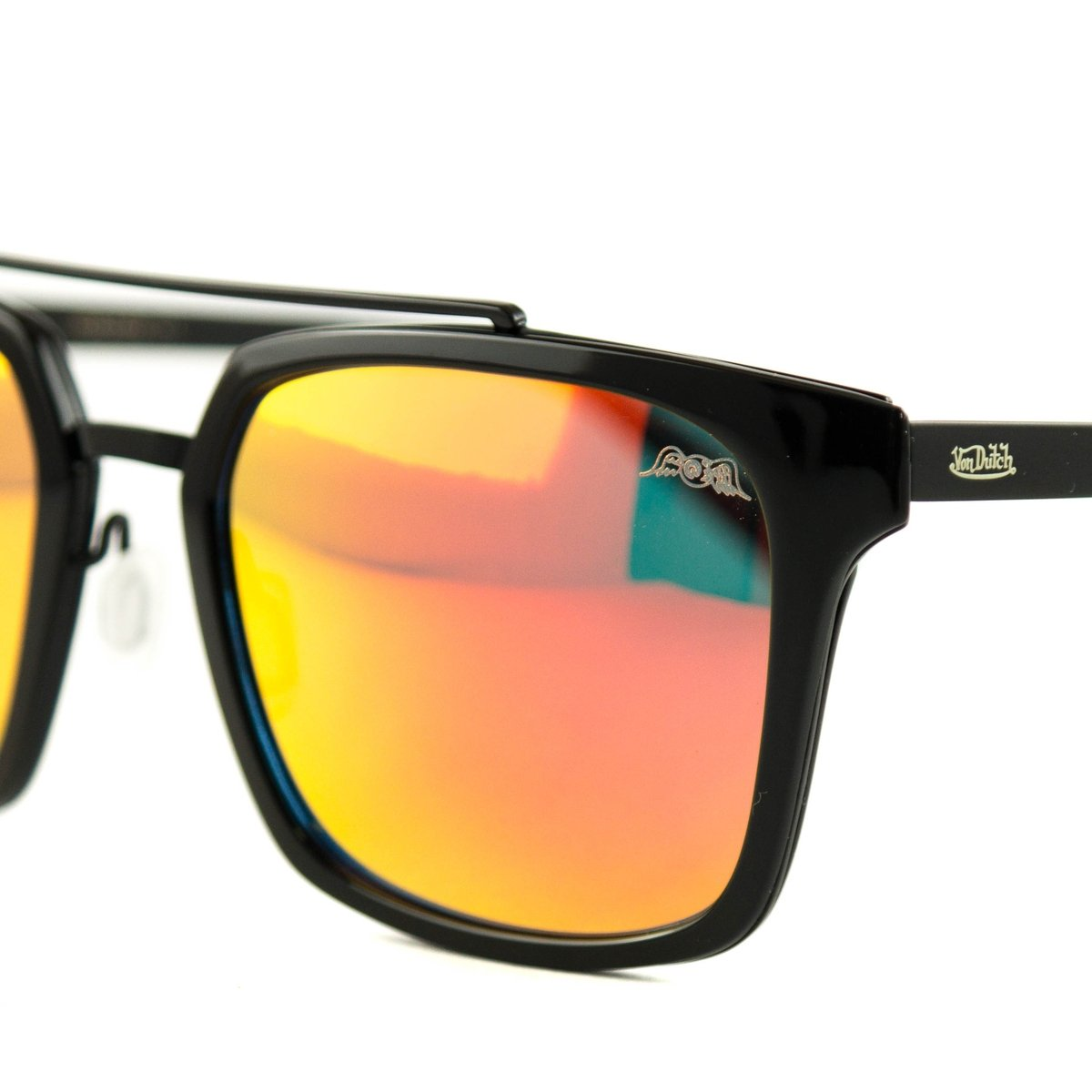 718141c316 Óculos Von Dutch De Sol - Preto e Laranja