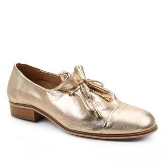Oxford Couro Shoestock Amarração Feminino