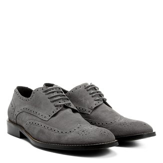 Oxford Couro Shoestock Brogue Masculino