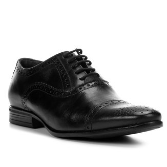 Oxford Couro Shoestock Brogues Masculino