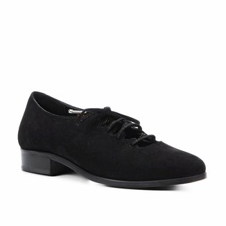 Oxford Couro Shoestock Nobuck Lace Up Feminino
