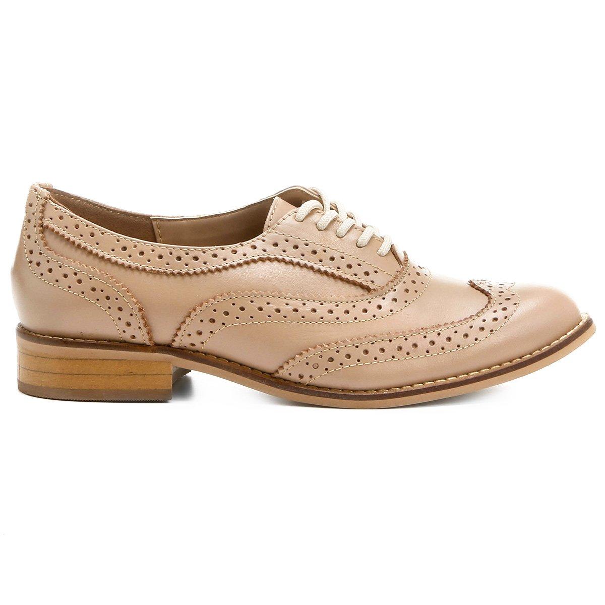 ffca7da6b Oxford Couro Shoestock Tradicional Feminino - Compre Agora