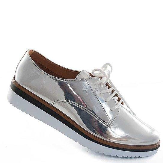 Oxford Sapato Show Metalizado - Prata