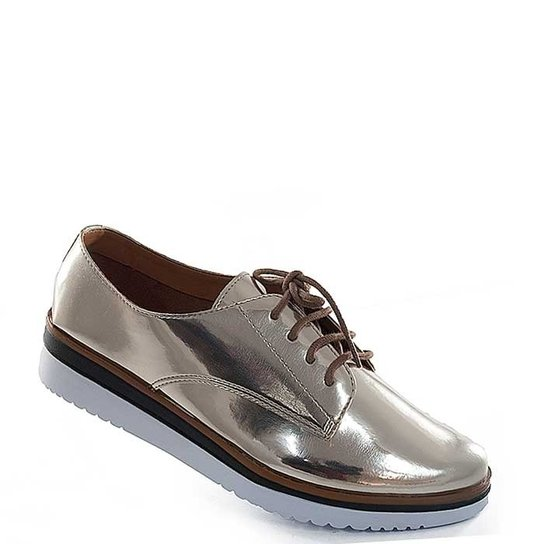 Oxford Sapato Show Metalizado - Dourado