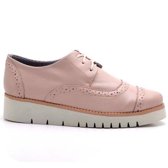 Oxford Top Franca Shoes Casual Feminino - Nude