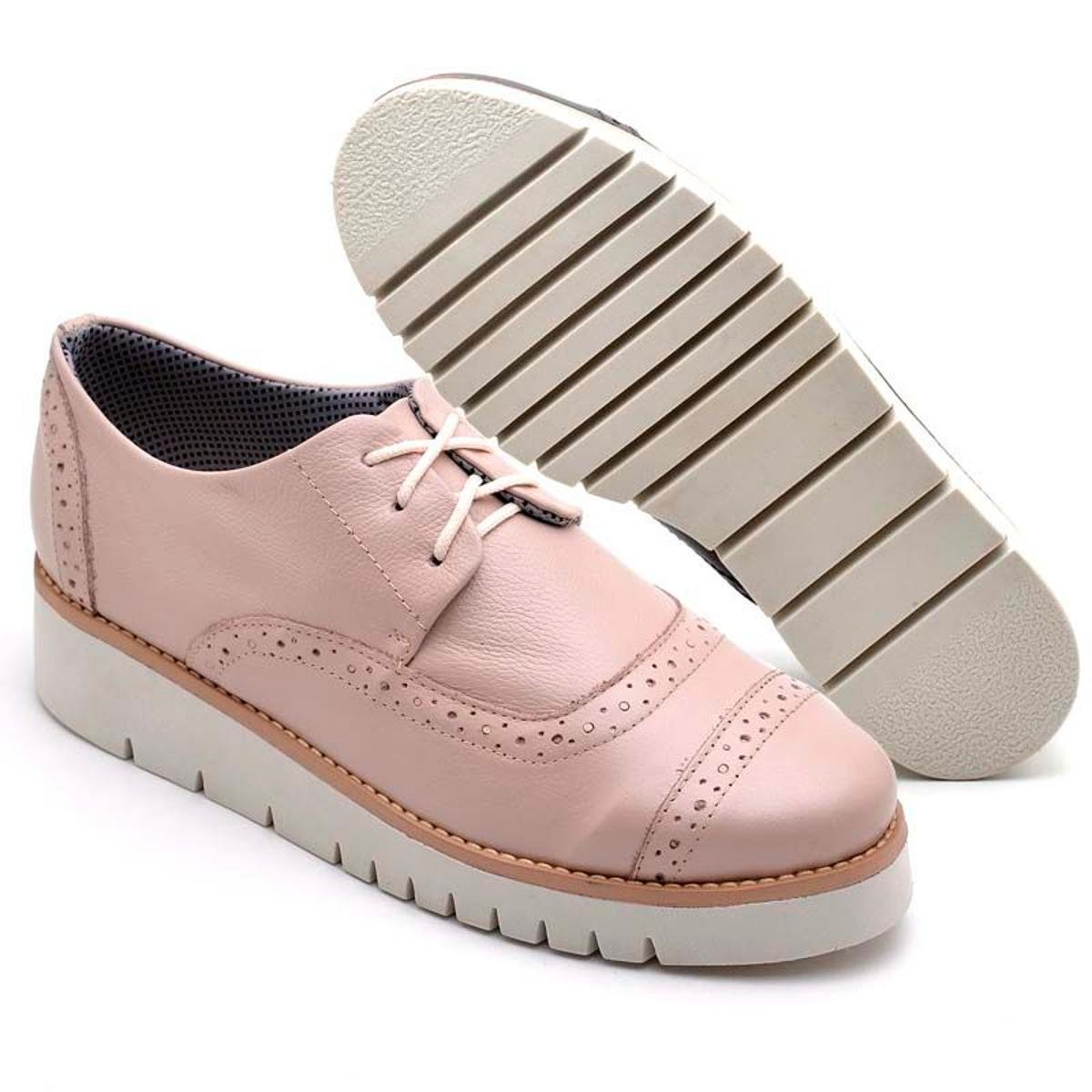Shoes Casual Top Franca Nude Oxford Feminino Oxford Top Hq7IP