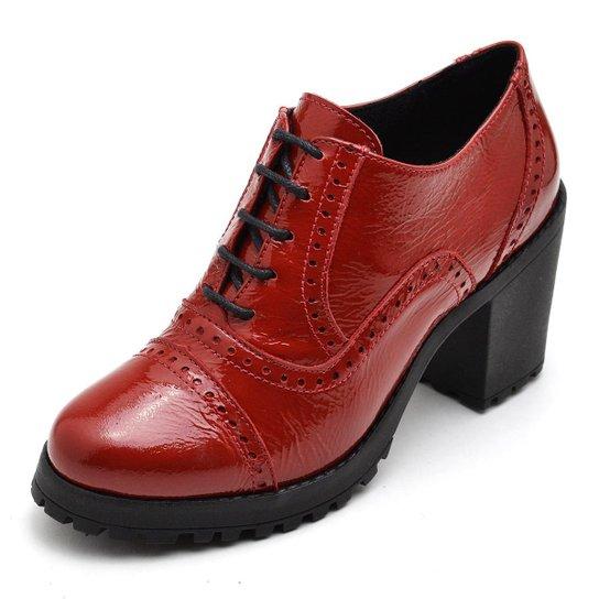 Oxford Top Franca Shoes Feminino - Vermelho