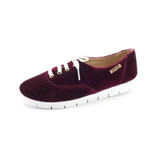 Oxford Tratorado Quality Shoes Veludo Feminino