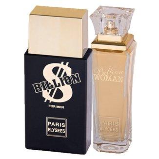 Paris Elysees Billion + Billion Woman - Perfume Feminino + Perfume Masculino Kit