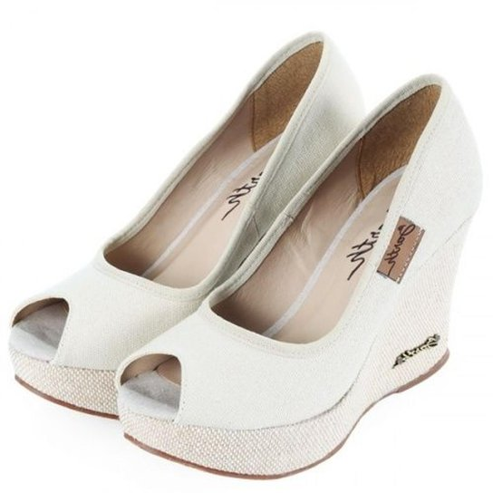 Peep Toe Barth Shoes Land - Off White