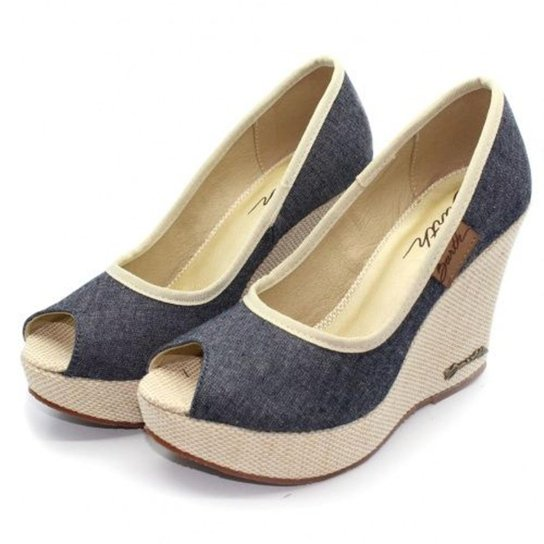 Peep Toe Barth Shoes Land - Azul