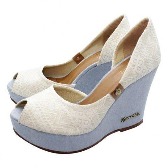 Peep Toe Barth Shoes - Off White