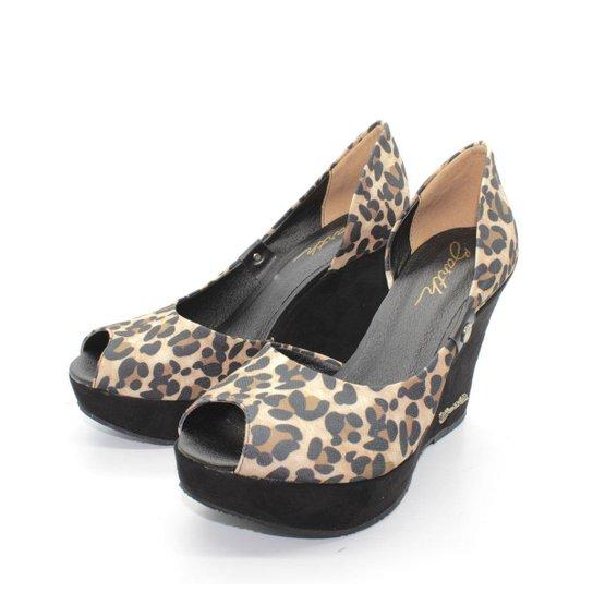 Peep Toe  Barth Shoes - Preto+Marrom