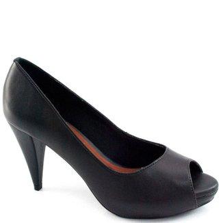Peep Toe Sapato Show Numeração Especial