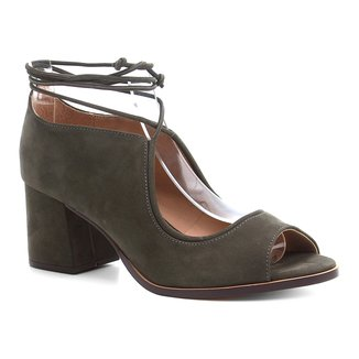 Peep Toe Shoestock Nobuck Tiras
